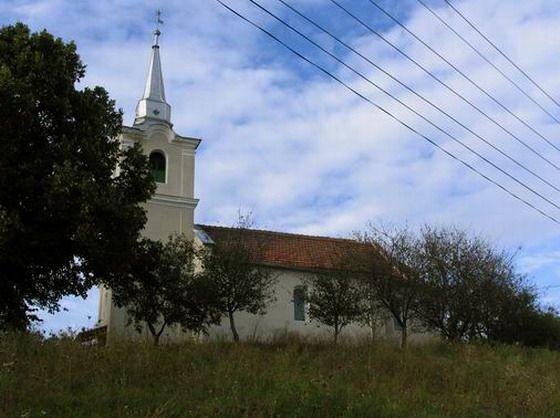 Biserica reformat_ Abr_mu_, construit_ în anul 1643-1_643-ban ép_lt Vedresábrányi református templom
